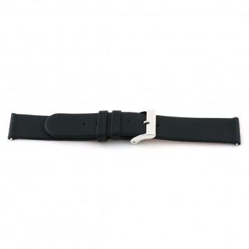 Cinturino dell'orologio 800.R01 Pelle Nero 12mm + cuciture di default