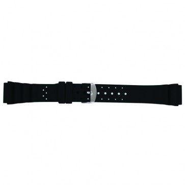 Cinturino dell'orologio SL100 Silicone Nero 18mm