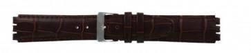 Cinturino orologio per Swatch in vera pelle, marrone scuro, 17mm 21414