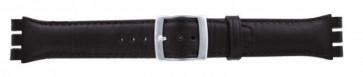 Cinturino orologio per Swatch, marrone scuro, WP-51643-19mm