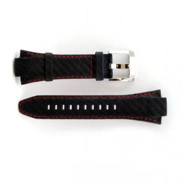 Cinturino orologio Seiko in vera pelle con cuciture rosse 7T62-0ED0 SNA633P1