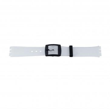 Cinturino orologio in plastica trasparente per Swatch, 17mm PVK-51