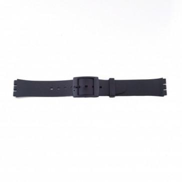 Cinturino orologio in plastica per Swatch, nero, versione sottile 17mm PVK-P51