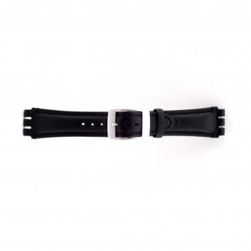 Cinturino orologio per Swatch, nero, 19mm PVK-SC14.01