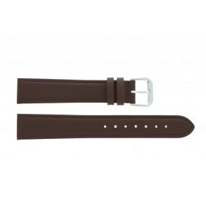 Cinturino dell'orologio 054.L02 XL Pelle Marrone 14mm + cuciture di default