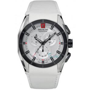 Cinturino per orologio Swiss Military Hanowa 06-4191.33.001 Pelle Bianco