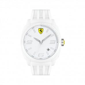 Ferrari cinturino dell'orologio SF113.1 / 0830113 / SF689300066 / Scuderia Gomma Bianco 24mm