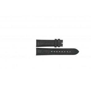 Esprit cinturino dell'orologio ES103342006 Pelle Nero 20mm + cuciture nero