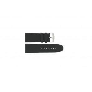 Cinturino per orologio Jacques Lemans 1498 Pelle Nero 28mm