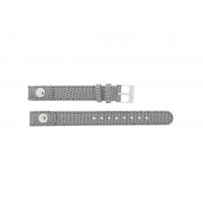 Lacoste cinturino dell'orologio 2000385 / LC-05-3-14-0009 / GR Pelle Grigio 12mm + cuciture grigio