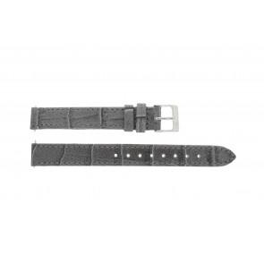 Lacoste cinturino dell'orologio 2000514 / LC-05-3-14-0167 Pelle Grigio 13mm + cuciture di default