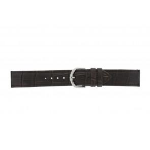 Olympic cinturino dell'orologio 26HSL057 Pelle Marrone scuro 20mm + cuciture di default