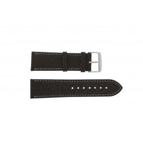 Cinturino dell'orologio 307.02 XL Pelle Marrone 20mm + cuciture bianco