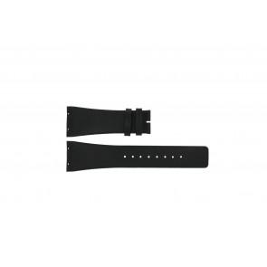 Boccia cinturino dell'orologio 3541-02 Pelle Nero 20mm