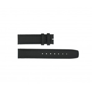 Boccia cinturino dell'orologio 3771-01 Pelle Nero 20mm + cuciture di default