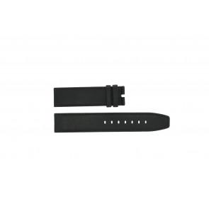 Boccia cinturino dell'orologio 3780-01 Pelle Nero 20mm + cuciture di default