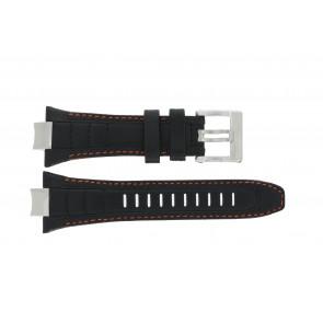 Seiko cinturino dell'orologio 4A1R1JT / 6G28-00N0 / 7T86-0AB0 / 7T62-0JV0 / SRK023P2 / SPC047P2 / SNAD23P2  / 6G28-00P0 / SRK025P1 Pelle Nero 14mm + cuciture arancione