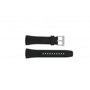 Seiko cinturino orologio 7T84-0AA0 / 4LJ7MBR Gomma Nero 26mm