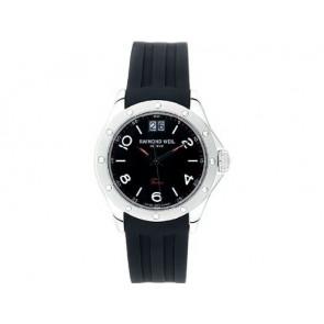 Raymond Weil cinturino dell'orologio 5595 / SU2001-5595-18 / LA-94 / V437435 / 040563 3.05 Gomma Nero 20mm