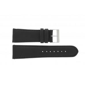Cinturino dell'orologio 61215B.10.26 Pelle Nero 26mm + cuciture di default
