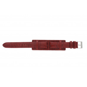 Cinturino dell'orologio 61325.45.16 Pelle Rosso 16mm + cuciture rosso