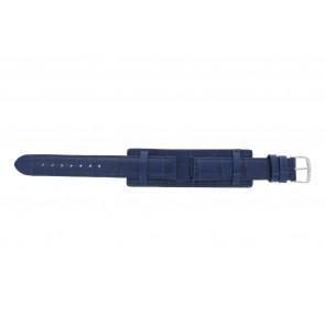 Cinturino dell'orologio 61325.55.16 Pelle Blu 16mm + cuciture blu