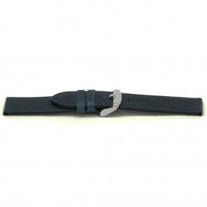 Cinturino orologio in pelle, blu, 16mm EX-E629