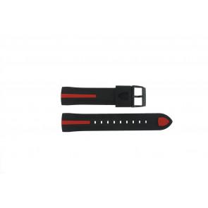 Ferrari cinturino dell'orologio SF-06-1-34-00055 / 689300018 / 80-17080186 Gomma Nero 22mm