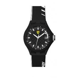 Ferrari cinturino dell'orologio SF.01.1.47.0088 / 689300072 Gomma Nero 22mm