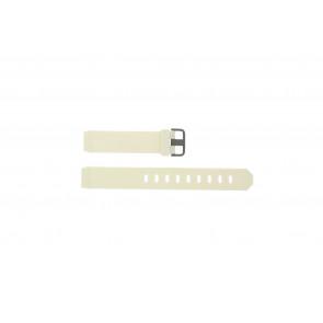 Jacob Jensen cinturino dell'orologio 700 Serie Gomma Bianco 17mm