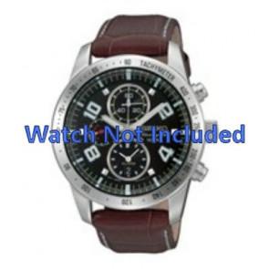 Seiko cinturino dell'orologio 7T62-0HX0 / SNAC11P1 / 4A332JL  Pelle Marrone 21mm + cuciture bianco