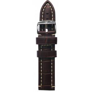 Davis cinturino dell'orologio B0281 Pelle Marrone 24mm