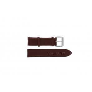 Davis cinturino dell'orologio BB0231 Pelle Marrone scuro 21mm + cuciture marrone