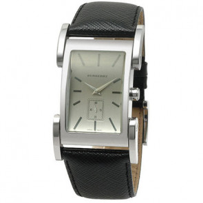 Cinturino per orologio Burberry BU1100 Pelle Nero