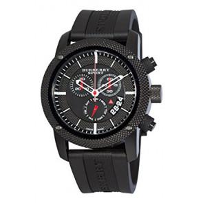 Cinturino per orologio Burberry BU7701 Silicone Nero
