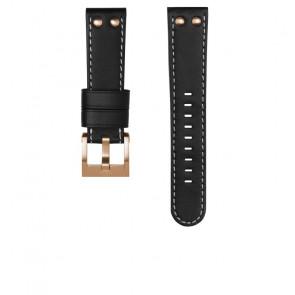 TW Steel cinturino dell'orologio CEB105 / CE105 Pelle Nero 22mm + cuciture bianco