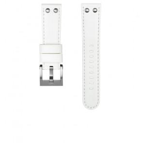 TW Steel cinturino dell'orologio CEB108 Pelle Bianco 22mm + cuciture bianco