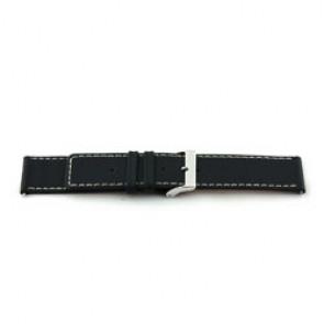 Cinturino orologio in vera pelle, nero, 28mm EX-J43