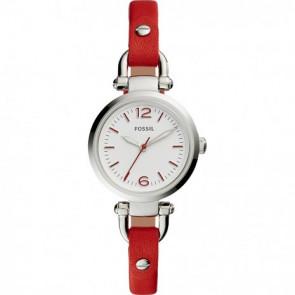 Fossil cinturino dell'orologio ES4119 Pelle Rosso 7mm