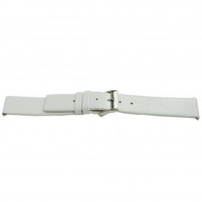 Cinturino orologio in pelle, bianco, 26mm EX-J510