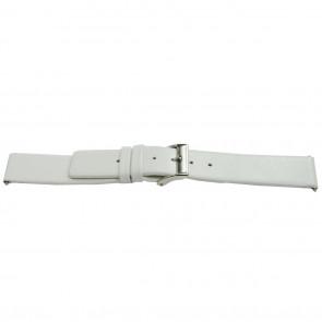 Cinturino orologio in pelle, bianco, 16mm EX-E510