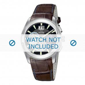 Jaguar cinturino dell'orologio J615-4 Pelle di coccodrillo Marrone 22mm + cuciture blu