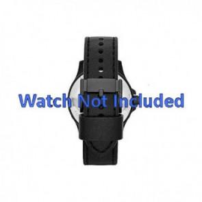 Fossil cinturino dell'orologio JR1448 Pelle Nero 22mm + cuciture di default