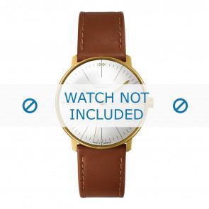 Junghans cinturino dell'orologio 027/7700.00 Pelle Cognac 20mm + cuciture di default