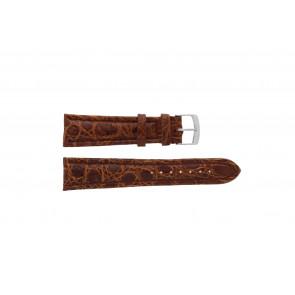 Morellato cinturino dell'orologio K0518052041CR22 Pelle di coccodrillo Marrone 22mm + cuciture di default