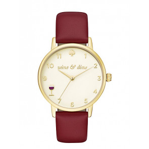 Kate Spade New York cinturino dell'orologio KSW1188 / METRO Pelle Rosso