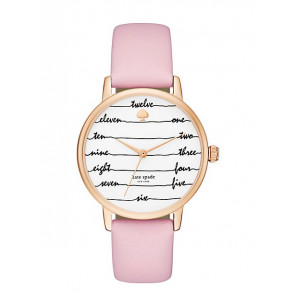 Cinturino per orologio Kate Spade New York KSW1239 Pelle Rosa
