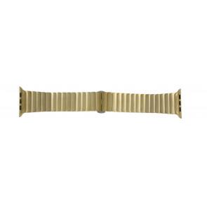Apple (replacement model) cinturino orologio LS-AB-107 Acciaio Oro (Placcato) 42mm