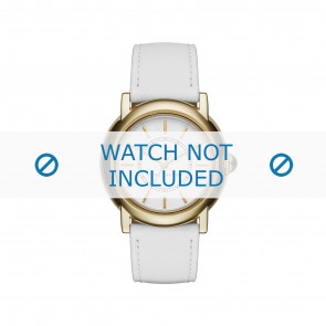 Marc by Marc Jacobs cinturino dell'orologio MJ1449 Pelle Bianco 18mm