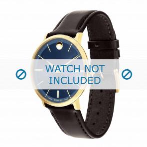 Movado cinturino dell'orologio 0607088 Pelle Marrone scuro 20mm + cuciture di default